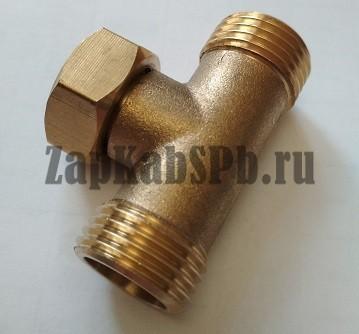 Тройник для соединения шлангов (метал)