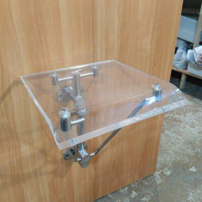 Сиденье для душевой кабины (плексиглас/метал) настенное крепление