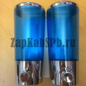 дозатор для жидкого мыла в душевую кабину двойной №2